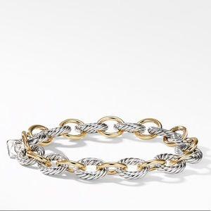 David Yurman Medium Oval Bracelet 18K Gold